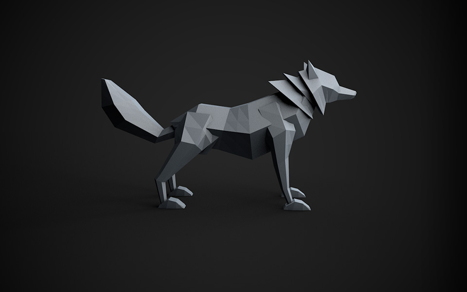 Learn Cinema 4D: Low Poly Wolf